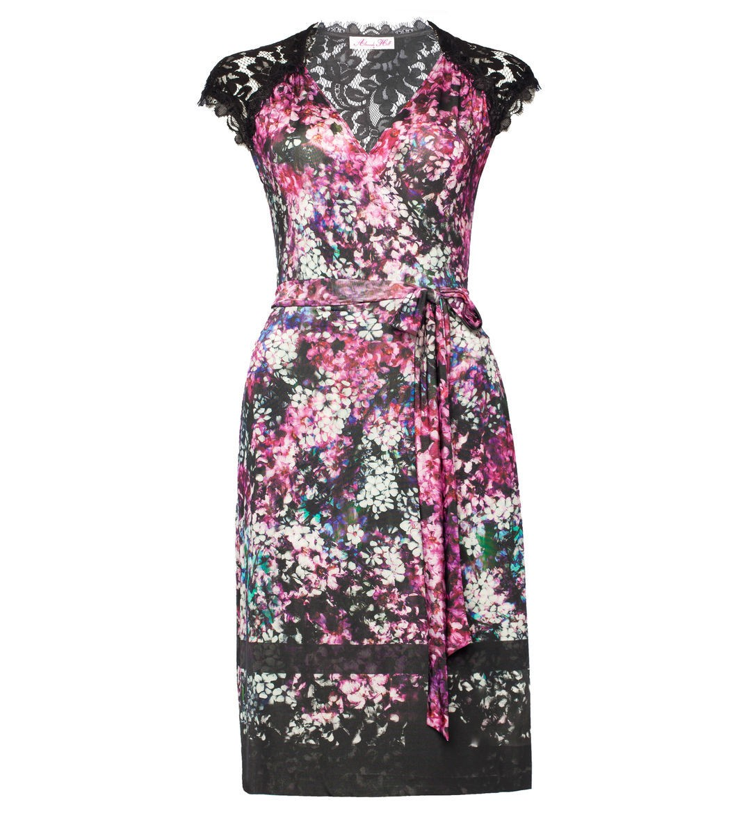 Is It In The Kiss? Wrap Dress-Floral