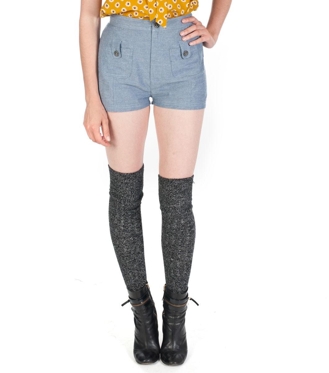 High Rise Polka Shorts