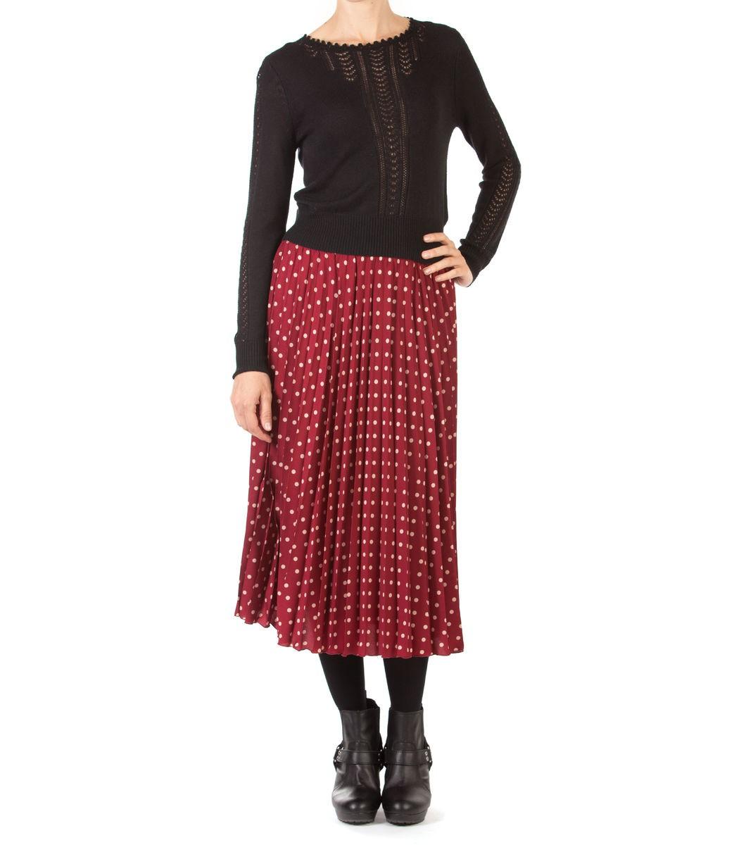 Midi Spot Sunray Skirt