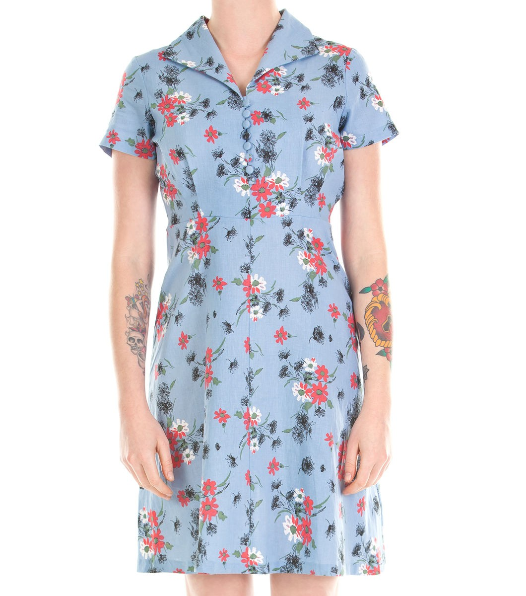 Lena Floral Tea Dress