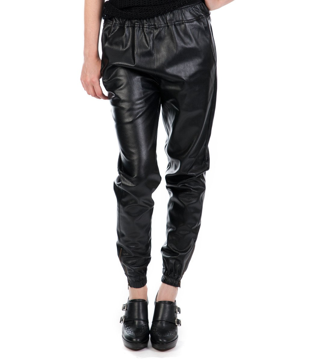 Perforated Vegan Pants