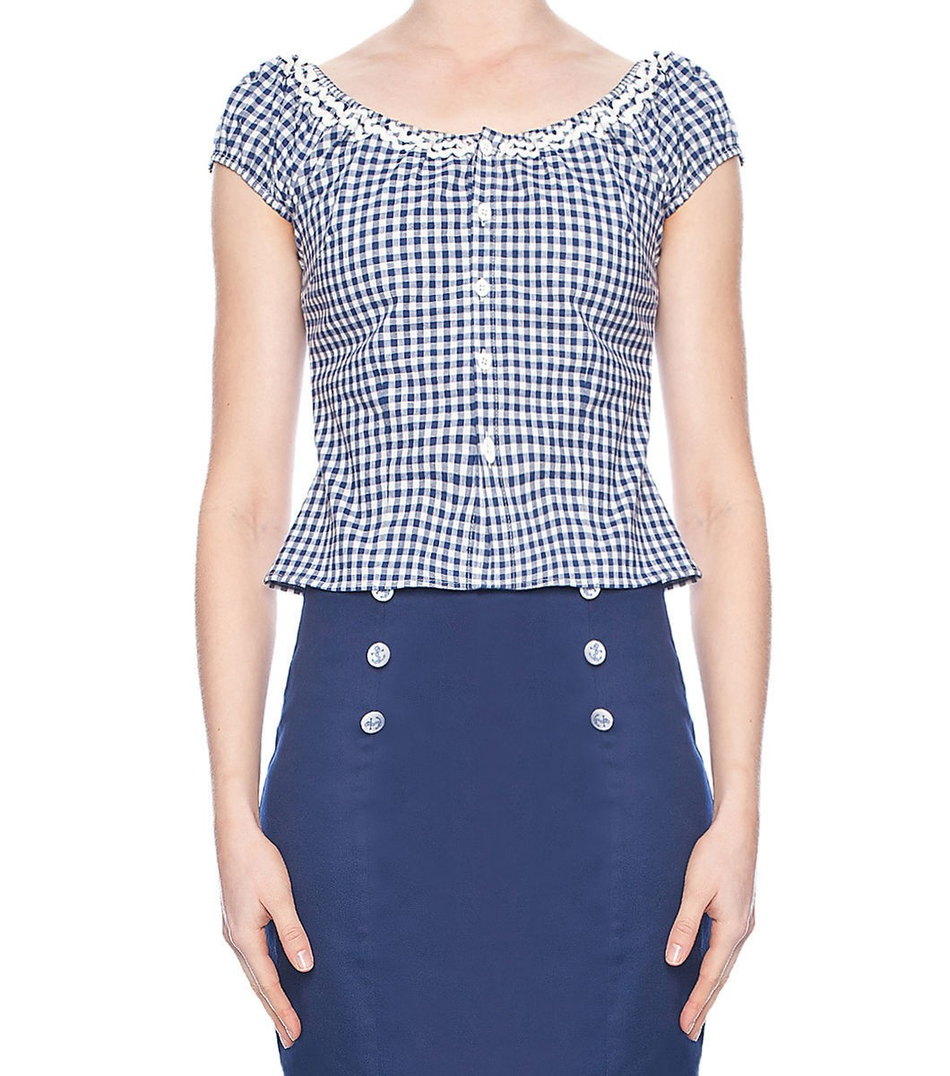 Mary Lou Gingham Top