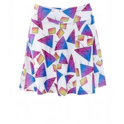 NWS 90s Print Skater Skirt